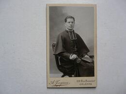 PHOTO FORMAT CARTE DE VISITE - PORTRAIT : ABBE D'ISLE - Photographe Rue Bannier ORLEANS A. JAQUES - Oud (voor 1900)