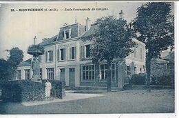 91,Essonne, MONTGERON, Ecole Communale De Garçons, Scan Recto-Verso - Montgeron