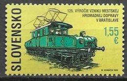 SLOVAKIA, 2020, MNH, TRAMS, TRAINS, URBAN PUBLIC TRANSPORT IN BRATISLVA,1v - Tramways
