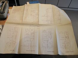 GRIVEGNEE RUE HAUTE WEZ 142 -  2 PLANS CONSTRUCTION D'UNE MAISON PROPRIETE M MIGNOLET - ARCHI MAUR.MARTIN ANNEES 30 - Architecture