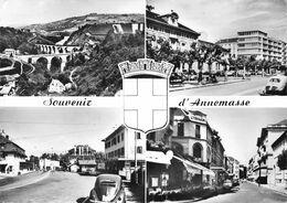 ANNEMASSE - Pont De Viaison - Place De L'Hôtel De Ville - Douane De Moellesulaz - Rue De La Gare - Crédit Lyonnais - Annemasse