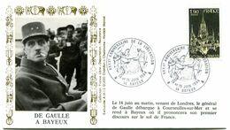 Thème Général De Gaulle - BT BAYEUX - 14 Juin 1984 - 40e Anniversaire De La Libération - Y 436 - De Gaulle (Generaal)