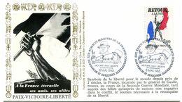 Thème Général De Gaulle - BT SURESNES - 8 Mai 1985 - Hommage Aux Héros Et Martyrs De La France Combattante - Y 439 - De Gaulle (Generaal)