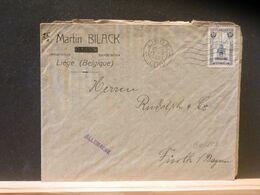 90/253  LETTRE BELGE  1921   TIMBRE PERRON DE LIEGE POUR BAYERN - 1915-1920 Albert I.