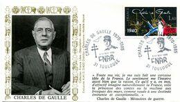 Thème Général De Gaulle - BT TOULOUSE - 9 Novembre 1985 - Charles De Gaulle FNAR - Y 447 - De Gaulle (Generaal)