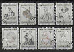 AUTRICHE   N°  1142/49    Oblitere  ( Cote 4.80e ) Tableaux Lievre  Lapin Taureau Durer Rembrandt Rubens Raphael - Arte