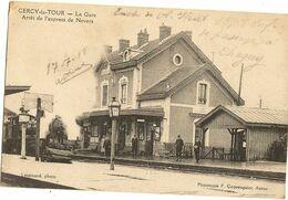 58 - CERCY LA TOUR - La Gare Arrêt De L'Express De Nevers 172 - Altri Comuni