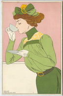 """Henri Meunier Années 1900 Art Nouveau Collection """"Grandes Femmes"""" Série Complète De 12 Cartes En Très Bon état. - Andere Illustrators"""