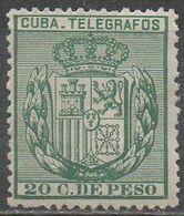 CUBA __ N°54__OBL VOIR SCAN - Telegraphenmarken