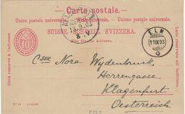 Ganzsache Elm 1903 Christoph Anton Graf Von Wydenbruck Botschaftssekretär An Nora Wydenbruck Klagenfurt P27 IV - Stamped Stationery