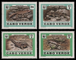Kap Verde 1986 - Mi-Nr. 500-503 ** - MNH - Reptilien / Reptiles - Kap Verde
