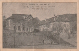 *** 38 ***  *** 38 *** Colonie De Vacances De L'oeuvre Des Petits Garçons Orphelins à FRONTONAS -timbrée  PLIS - Other Municipalities