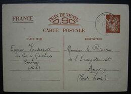 1940  Cachet De Bourbourg, Stalag V B Armand Vandrepote Carte Pour Annecy - Marcofilie (Brieven)
