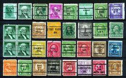 U.S.A. -  32 PRECANCELS  - Selection Nr 395 - Estados Unidos