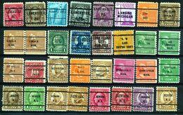 U.S.A. -  32 PRECANCELS  - Selection Nr 396 - Precancels