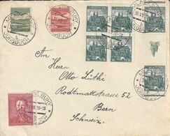 Tchécoslovaquie Jolie Lettre Pour La Suisse 1938 - Cecoslovacchia