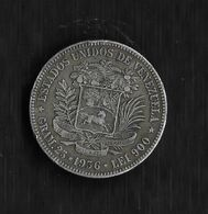 VENEZUELA. AÑO 1956. 5 BOLÍVARES PLATA. PESO 25 GR. - Venezuela