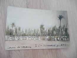 Carte Photo Re Colorisée Militaires Militaria Zouave Corvée De Roseaux Maroc Marrakech 1925? - Characters