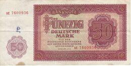 BILLETE DE ALEMANIA  DDR DE 50 MARK  DEL AÑO 1955  (BANK NOTE) - 50 Deutsche Mark