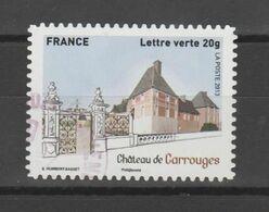 """FRANCE / 2013 / Y&T N° AA 871 : """"Patrimoine"""" (Château De Carrouges) - Choisi - Cachet Rond - Luchtpost"""