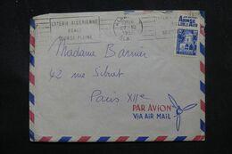 ALGÉRIE - Affranchissement Musée Bardo Avec Bande Pub Sur Enveloppe De Alger En 1955 Pour Paris - L 70355 - Lettres & Documents