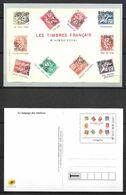 FRANCE Carte Postale Langage Des Timbres M'aimez Vous. - Listos A Ser Enviados: Otros (1995-...)
