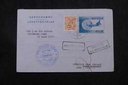 BELGIQUE - Aérogramme Par 1er Vol Bruxelles / Lome En 1987  - L 70361 - Stamped Stationery