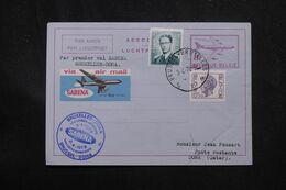 BELGIQUE - Aérogramme Par 1er Vol Bruxelles / Dora En 1978  - L 70363 - Stamped Stationery