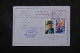 BELGIQUE - Aérogramme Par 1er Vol Bruxelles / Douala En 1972  - L 70365 - Stamped Stationery