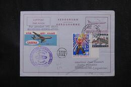 BELGIQUE - Aérogramme Par 1er Vol Bruxelles / Buenos Aires En 1971  - L 70366 - Stamped Stationery