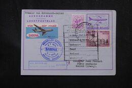 BELGIQUE - Aérogramme Par 1er Vol Bruxelles / Bagdad En 1976  - L 70367 - Stamped Stationery