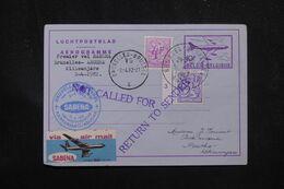 BELGIQUE - Aérogramme Par 1er Vol Bruxelles / Arusha Kilimandjaro En 1982  - L 70368 - Aerogrammes
