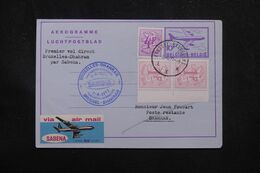 BELGIQUE - Aérogramme Par 1er Vol Bruxelles / Dhahran En 1987 - L 70369 - Stamped Stationery