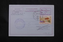 BELGIQUE - Aérogramme Par 1er Vol Bruxelles / New York En 1973 - L 70371 - Aerogrammes