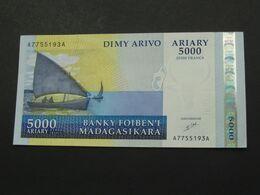 5000 Francs 2009 - Dimy Arivo Ariary - MADAGASCAR   **** EN ACHAT IMMEDIAT **** Quasi Neuf !!!!! - Madagascar
