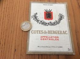 Etiquette Vin « CÔTES DE BERGERAC - SVG (22)» - Bergerac