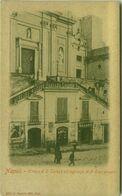 NAPOLI - CHIESA DI S. TERESA ED INGRESSO AL 3 EDUCANDATO - EDIZIONE RAGOZINO - 1900s ( 4988) - Napoli (Naples)