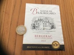 Etiquette Vin 2011 «BERGERAC - MAYNE DE BEAUREGARD - ÉGLISE SAINT-JACQUES à BERGERAC (24)» - Bergerac
