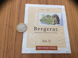 Etiquette Vin * «BERGERAC - RÉSERVE BERNARD CORDELIER» - Bergerac