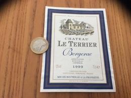 Etiquette Vin 1999 * «BERGERAC - CHATEAU LE TERRIER - CHRISTIAN FRUITIER - SAINT-VIVIEN (24)» - Bergerac