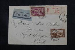 MAROC - Enveloppe En Recommandé De Rabat Pour  La France En 1935 Par Avion  - L 70387 - Lettres & Documents