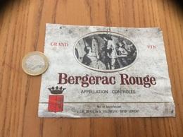 Ancienne Etiquette Vin «BERGERAC ROUGE - UCB - LORIENT (56)» - Bergerac