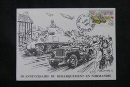 FRANCE - Carte Commémorative Du 50ème Anniversaire Du Débarquement En Normandie En 1994 - L 70390 - 1961-....