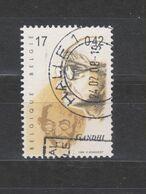 COB 2862 Oblitération Centrale HALLE Gandhi - Bélgica