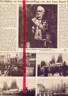 Orig. Knipsel Coupure Tijdschrift Magazine - Ukkel Brussel -  Begrafenis Van Oud Minister Karel Woeste  - 1922 - Ohne Zuordnung