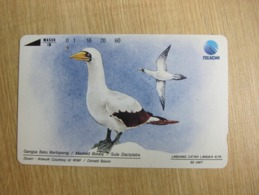 Tamura Phonecard,WWF Bird, Used With One Hole Only - Indonesien