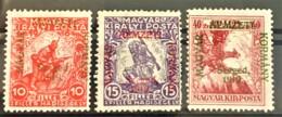 HUNGARY 1919 - MLH - Sc# 11NB1-11NB3 - Complete Set! - Magyar Nemzeti Kormany - Ongebruikt