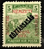 HUNGARY 1919 - MLH - Sc# 11N22 - 5f - Ongebruikt