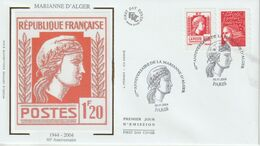 France FDC 2004 Marianne D'Alger P3716 - 2000-2009