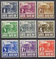 Nederlands Indie 1934-1937 NVPH Nr 186/194 Postfris/MNH Karbouw - Netherlands Indies